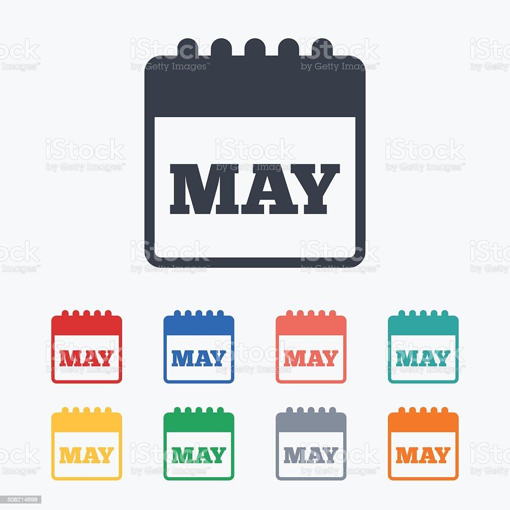 Simbolo De Calendario.Calendario Di Icona Possono Mese Simbolo Immagini