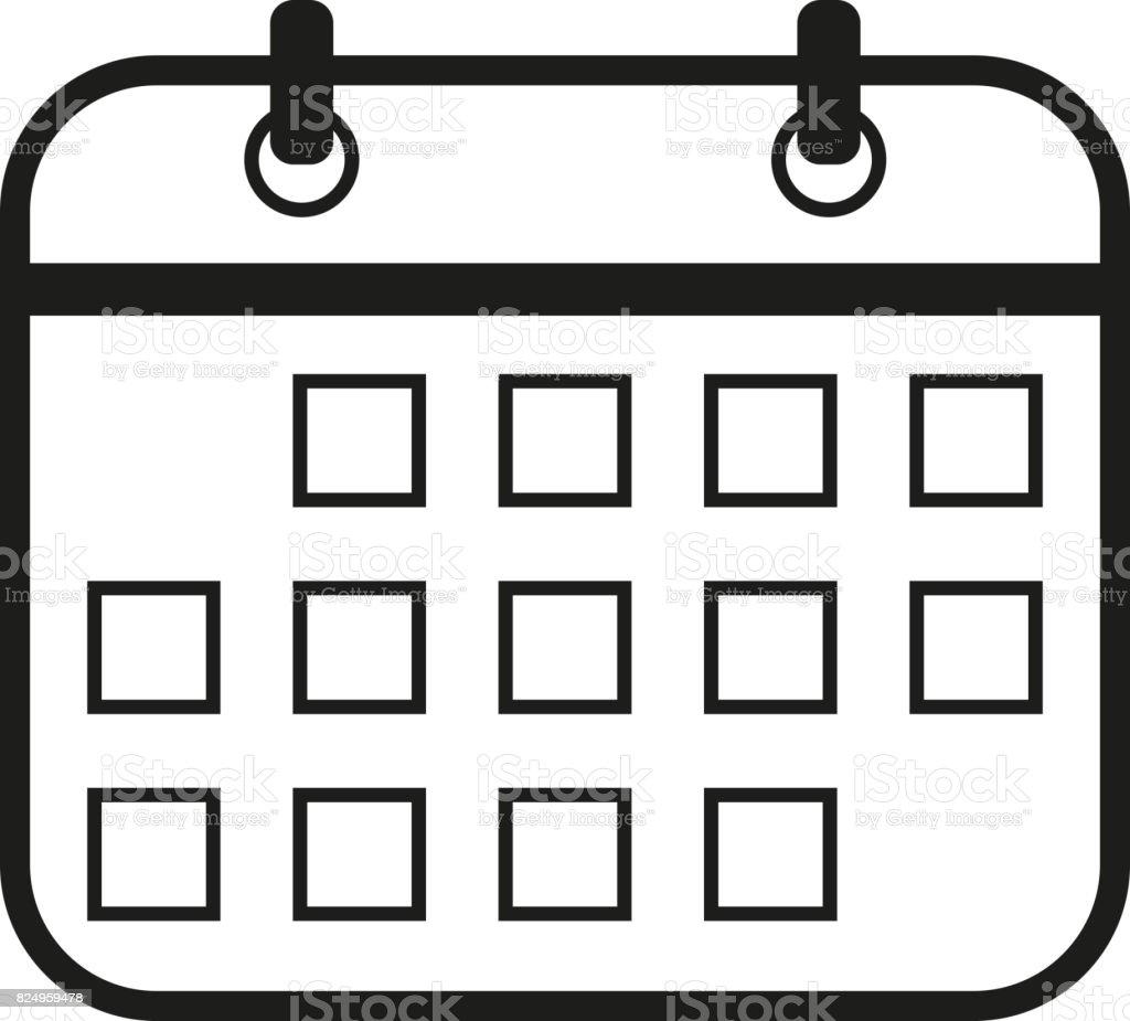 Calendario Vector Blanco.Ilustracion De Ilustracion De Signo De Calendario Vector
