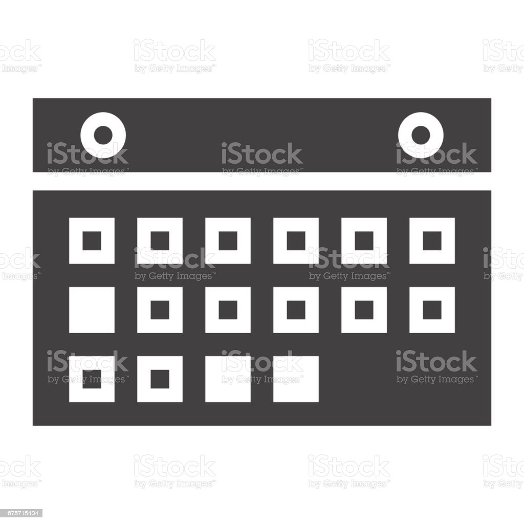 日曆固體圖示、 移動和網站按鈕,向量圖形,在白色的背景下,eps 10 的填充模式。 免版稅 日曆固體圖示 移動和網站按鈕向量圖形在白色的背景下eps 10 的填充模式 向量插圖及更多 事件 圖片