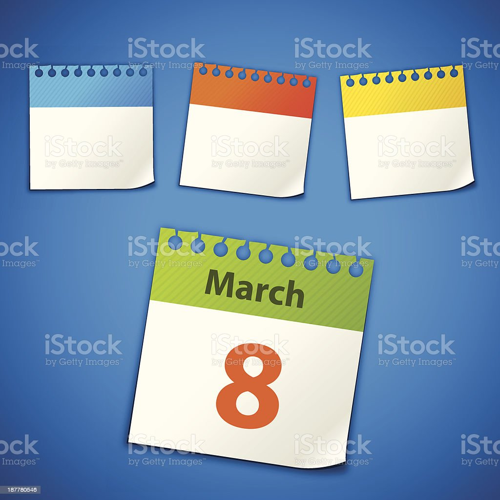 calendar stickers royalty-free calendar stickers stock vector art & more images of blue