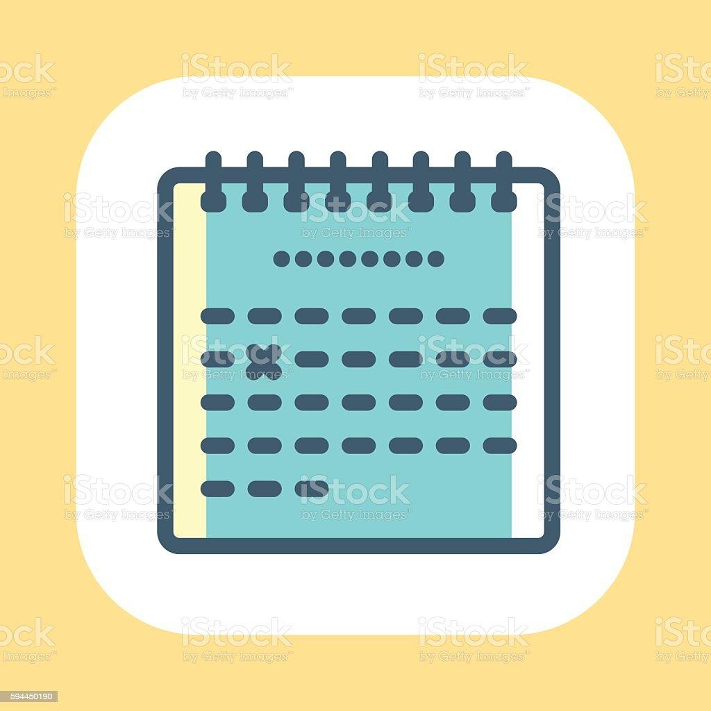 Calendar Symbol vector art illustration