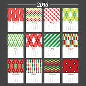 Fir Trees, Chevron, Polka Dot, Argyle, Triangles, Diagonal Stripes, Harlequin, Stars in Red, Green and White
