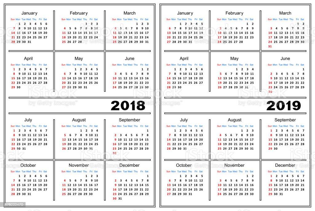 plantilla calendario 2018