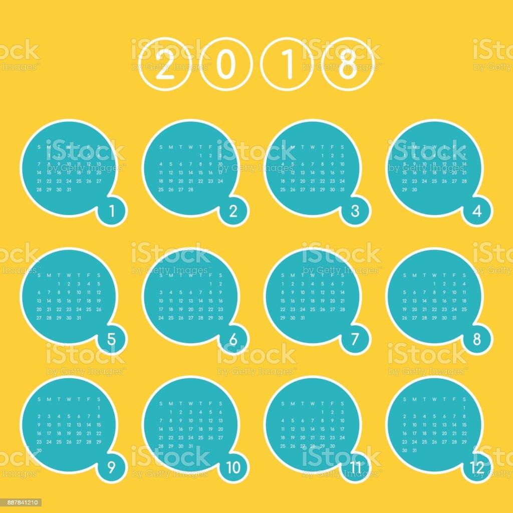 Atemberaubend Kalendervorlage Für Das Ganze Jahr Ideen - Beispiel ...
