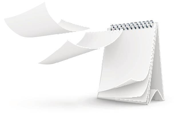 Der Kalender Vorlage mit leeren Seiten – Vektorgrafik