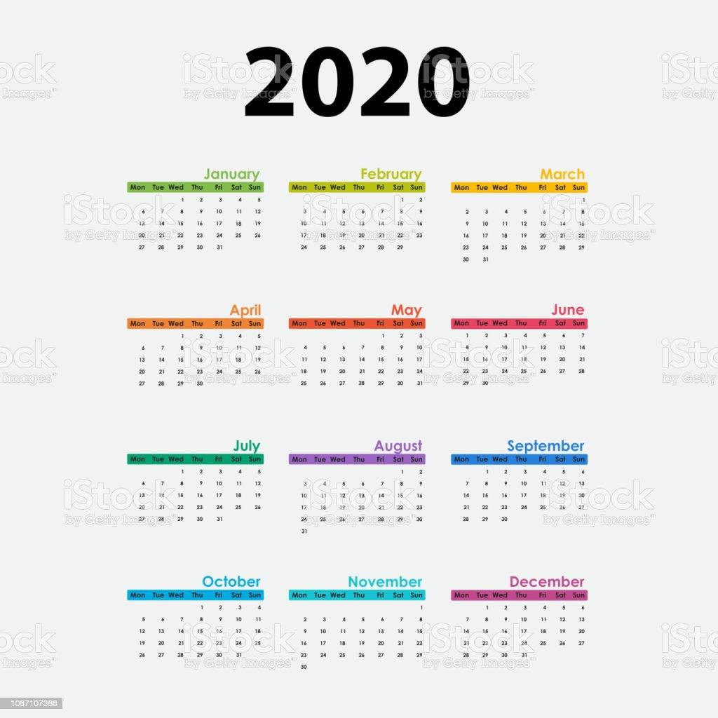 Calendario Serie A 2020 12.Modele De Papeterie De 2020 Calendrier Templatecalendar 2020