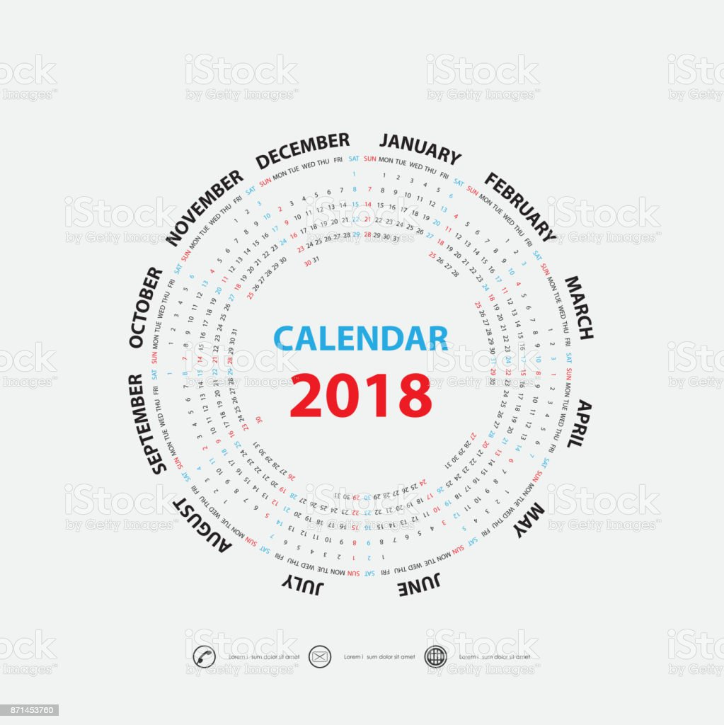 2018 Templatecalendar De Calendario Para El Año 2018 Calendario ...