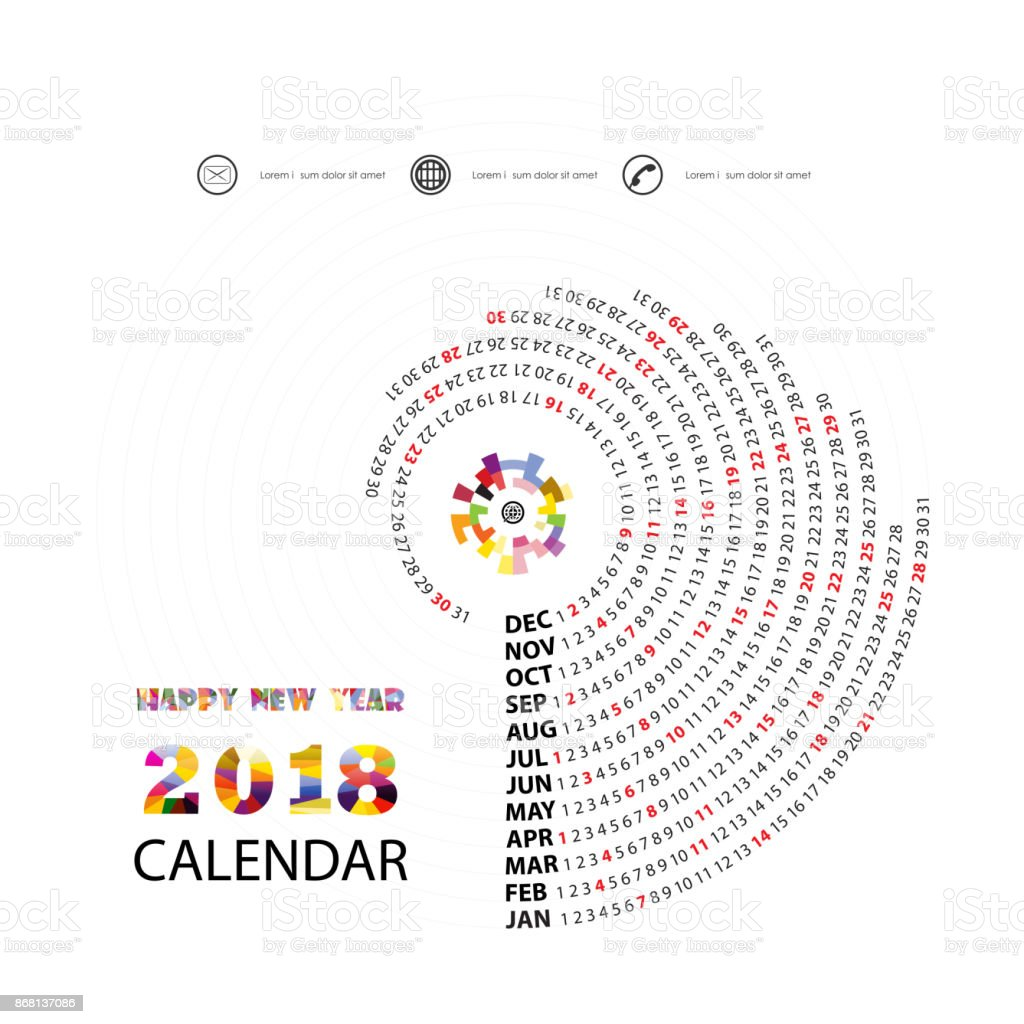 2018 カレンダー templatespiral カレンダーカレンダー 2018年セットの