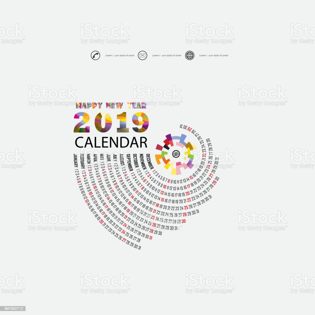 2019 カレンダー templatespiral カレンダーカレンダー 2019年セットの