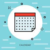 Calendar Thin Line Election Icon