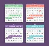 Calendar UI for mobile app and web