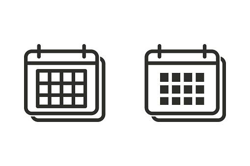 Calendar vector icon.