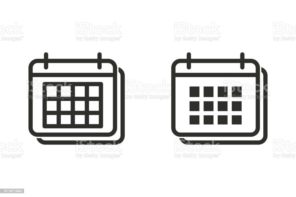 Calendar vector icon. vector art illustration