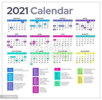 istock 2021 Calendar 1279366340