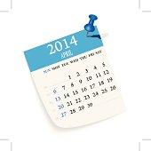 April Calendar,extra files; ai,pdf,png,jpeg(hi-res)