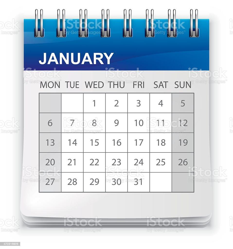 Calendar (Monday-Sunday) royalty-free calendar stock vector art & more images of april