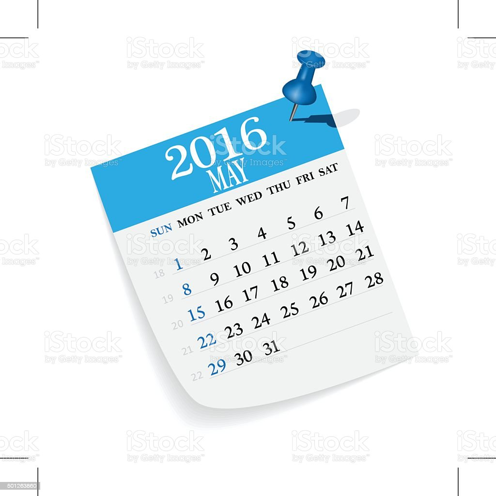 Calendar vector art illustration
