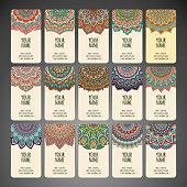 Round Ornament Pattern. Vintage decorative elements. Hand drawn background. Islam, Arabic, Indian, ottoman motifs.