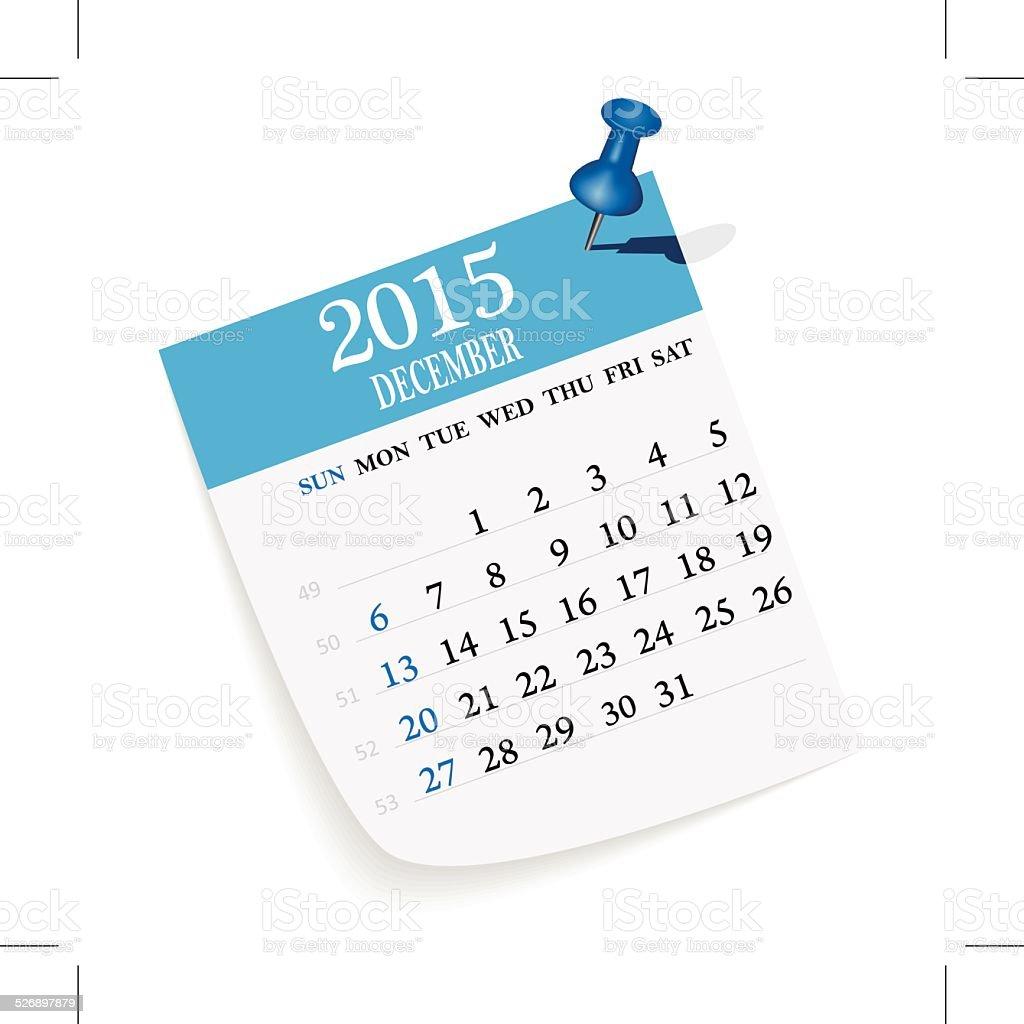 Calendar vector art illustration