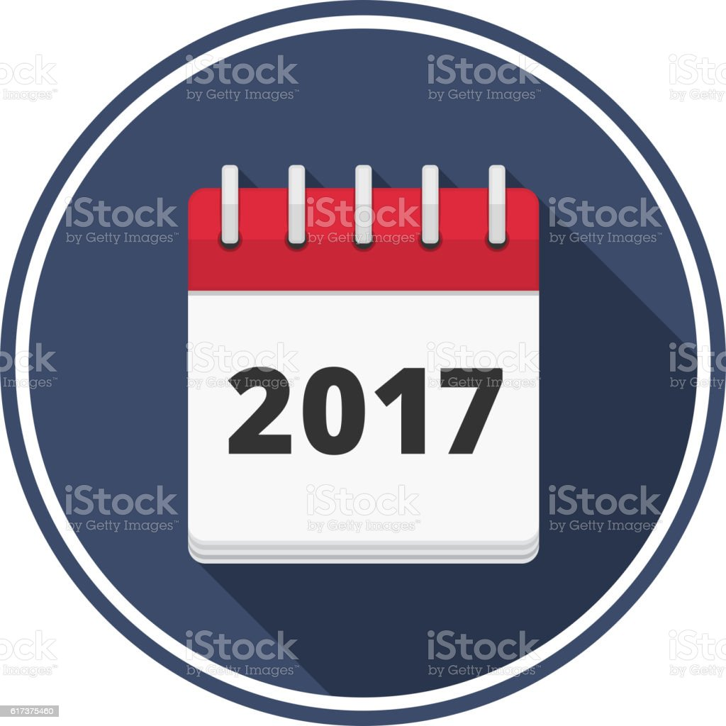 2017 Calendar vector art illustration