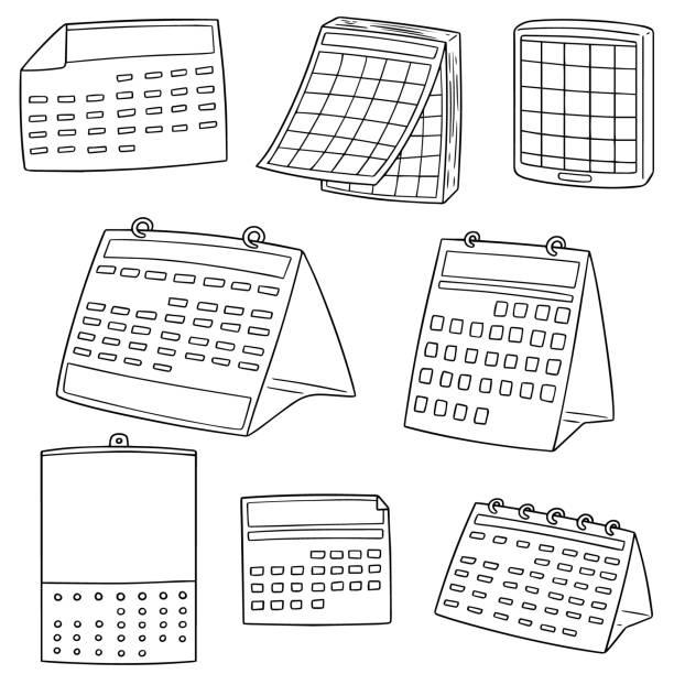 calendar – artystyczna grafika wektorowa