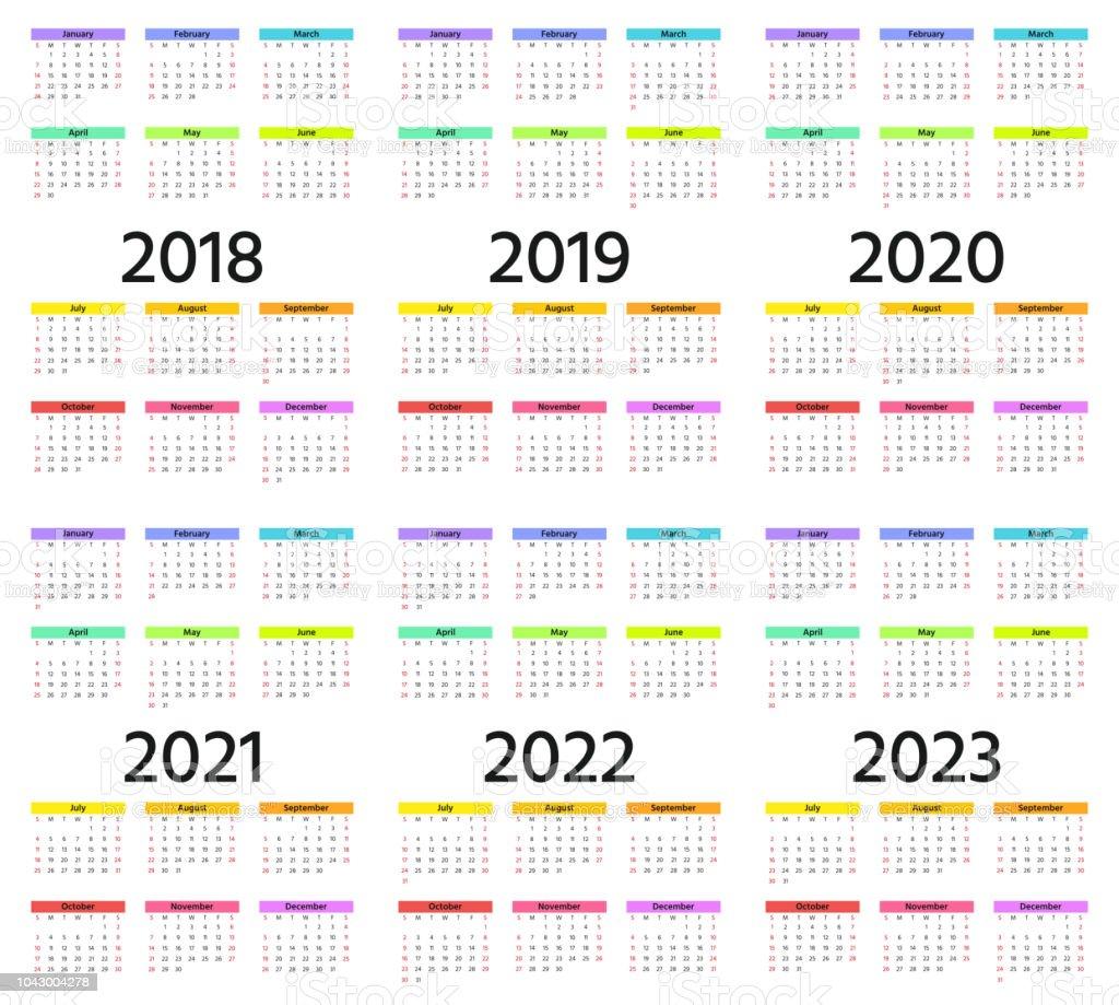Calendrier Pro A 2020 2019.2018 2019 2020 Calendar Vector Illustration Template Year
