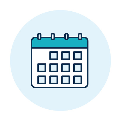 Calendar Webpage User Interface Icon In Thin Line Style