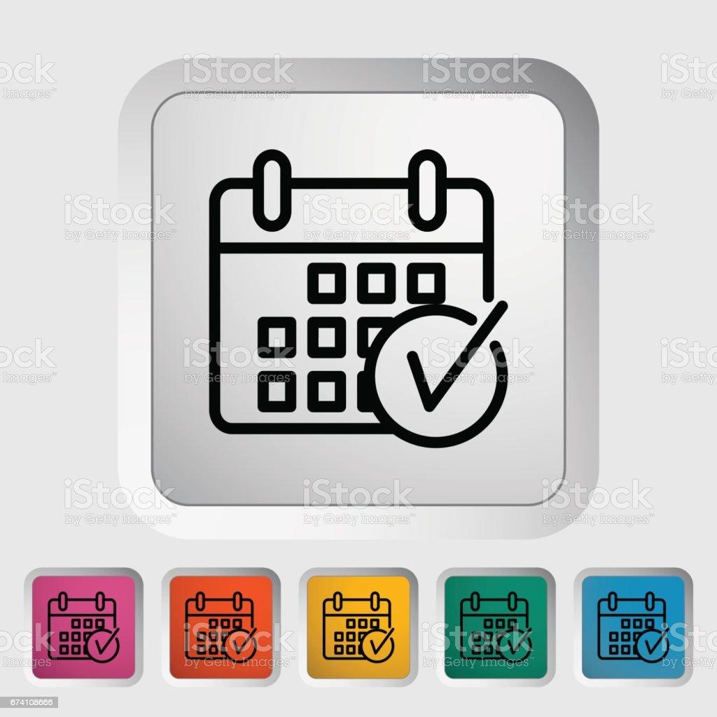 Calendrier A Cocher.Calendrier Avec Cocher Vecteurs Libres De Droits Et Plus D