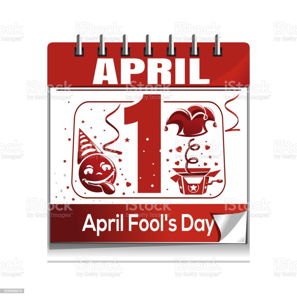 4 月 1 日のカレンダーですエイ...