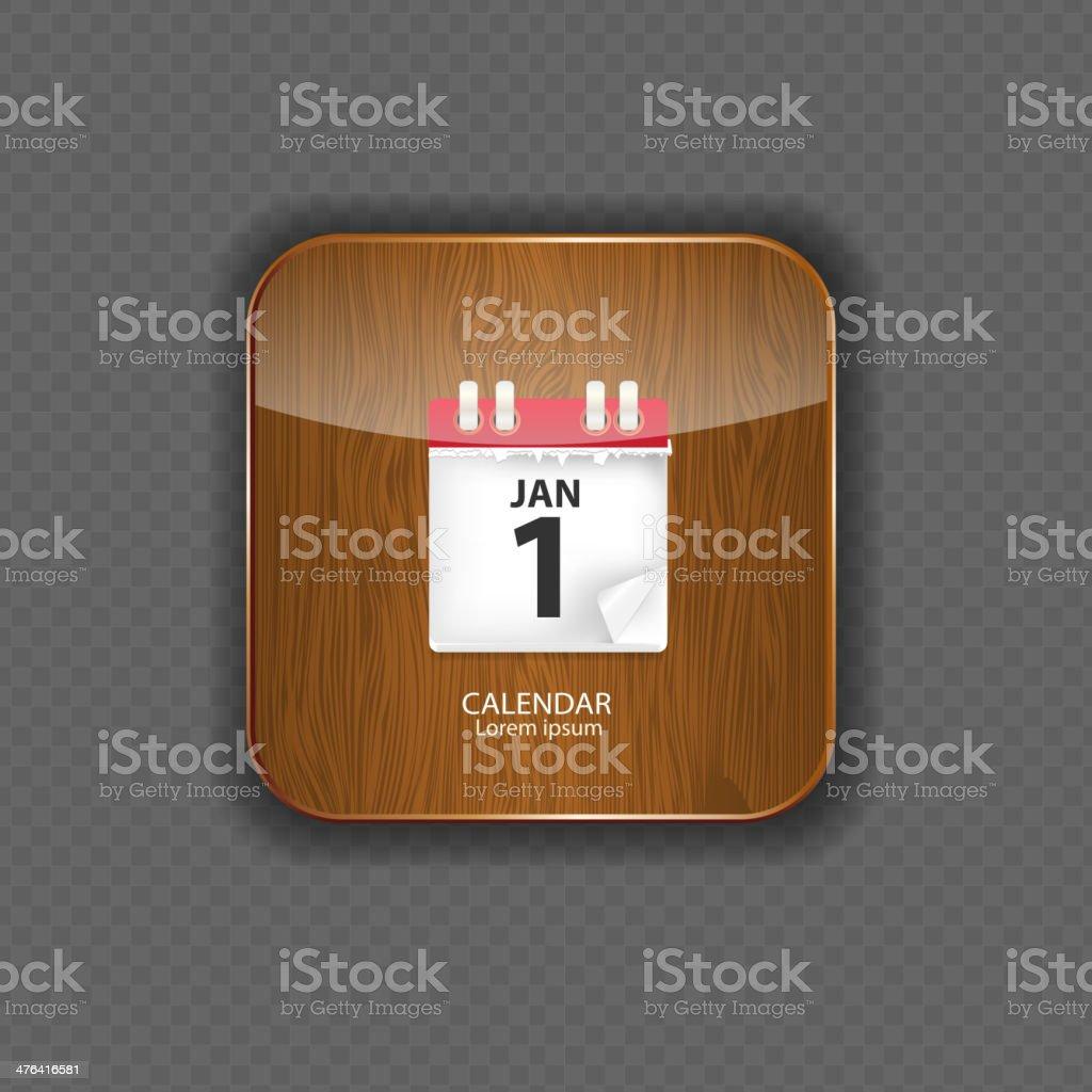 Calendar wood application icons vector illustration royalty-free stock vector art