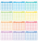 Vector Calendar year 2020