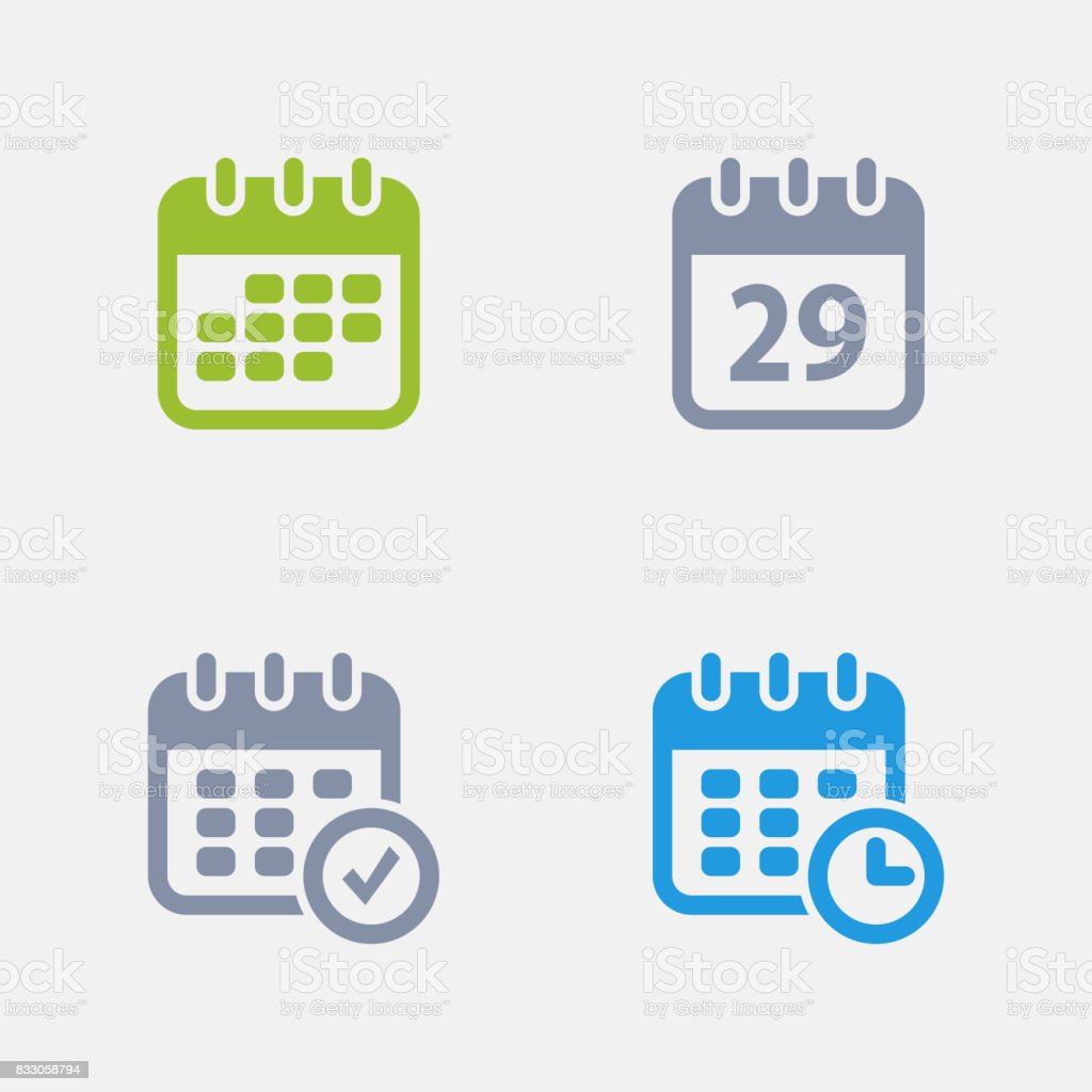 Calendars - Granite Icons vector art illustration