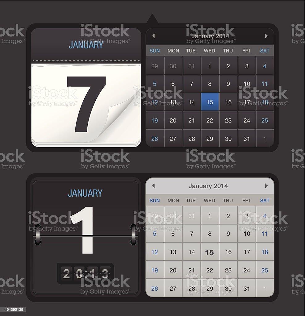 Calendars royalty-free calendars stock vector art & more images of 2014
