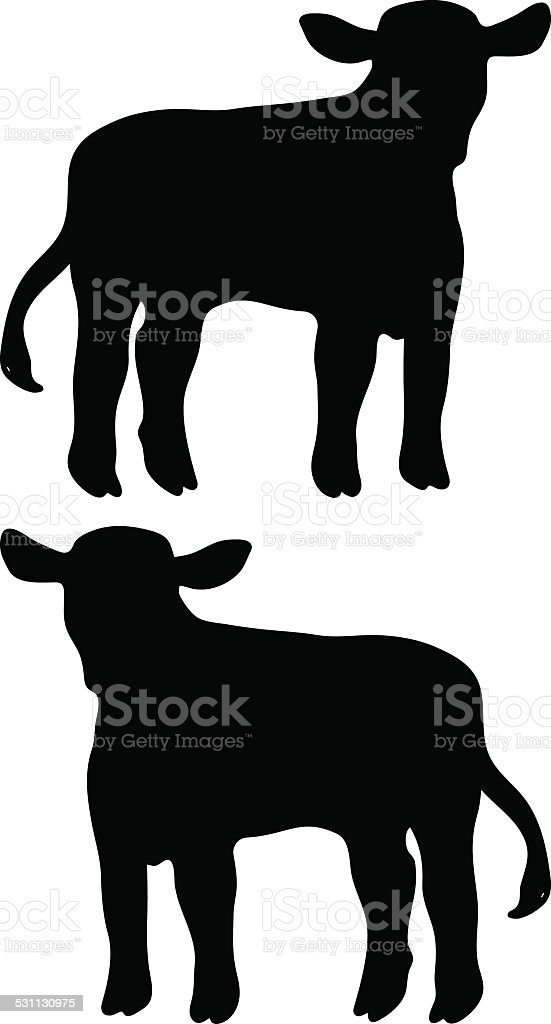calf vector vector art illustration