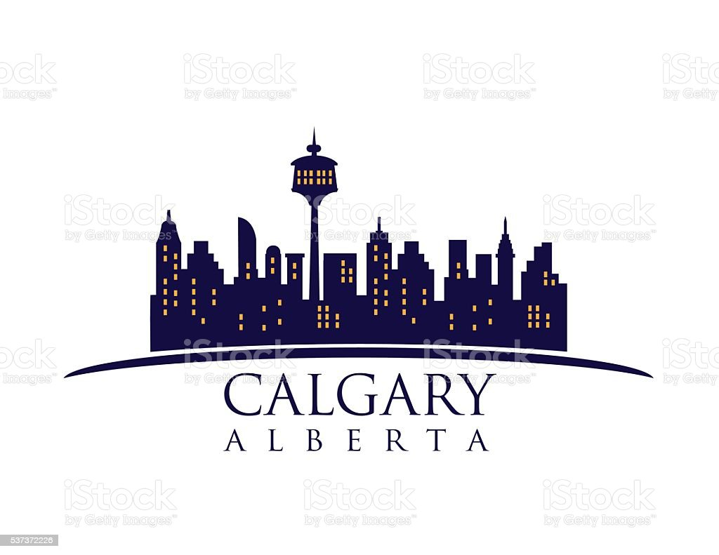 Calgary Canada skyline vector art illustration