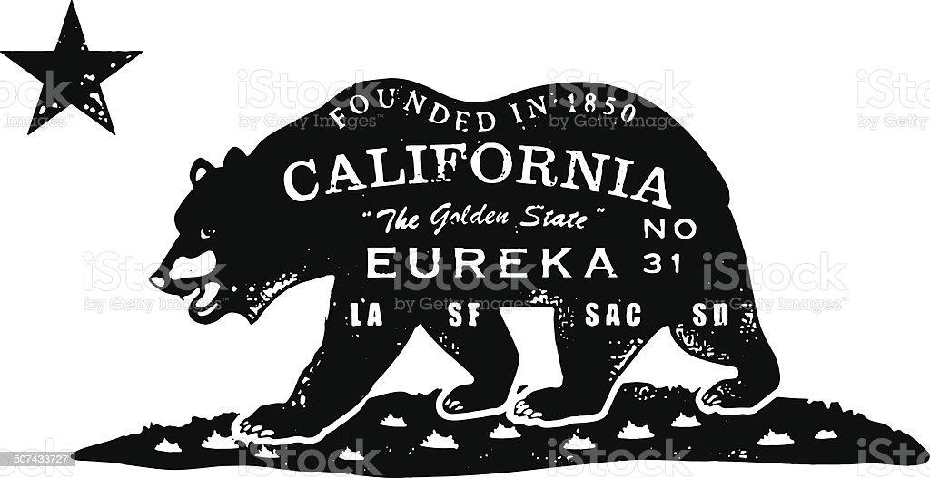 California Bear Stamp Royalty Free Stock Vector Art Amp More Images