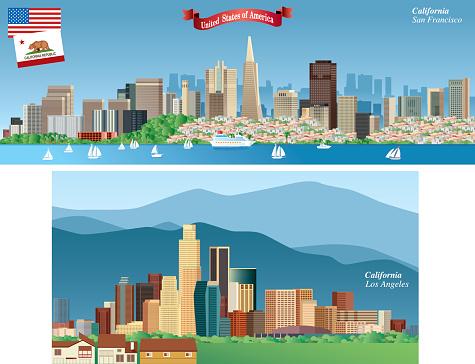 California Citys Skyline