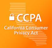 CCPA California Consumer Privacy Act Lock Orange and Gold