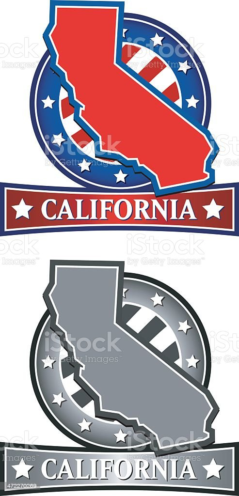 California Crest royalty-free stock vector art