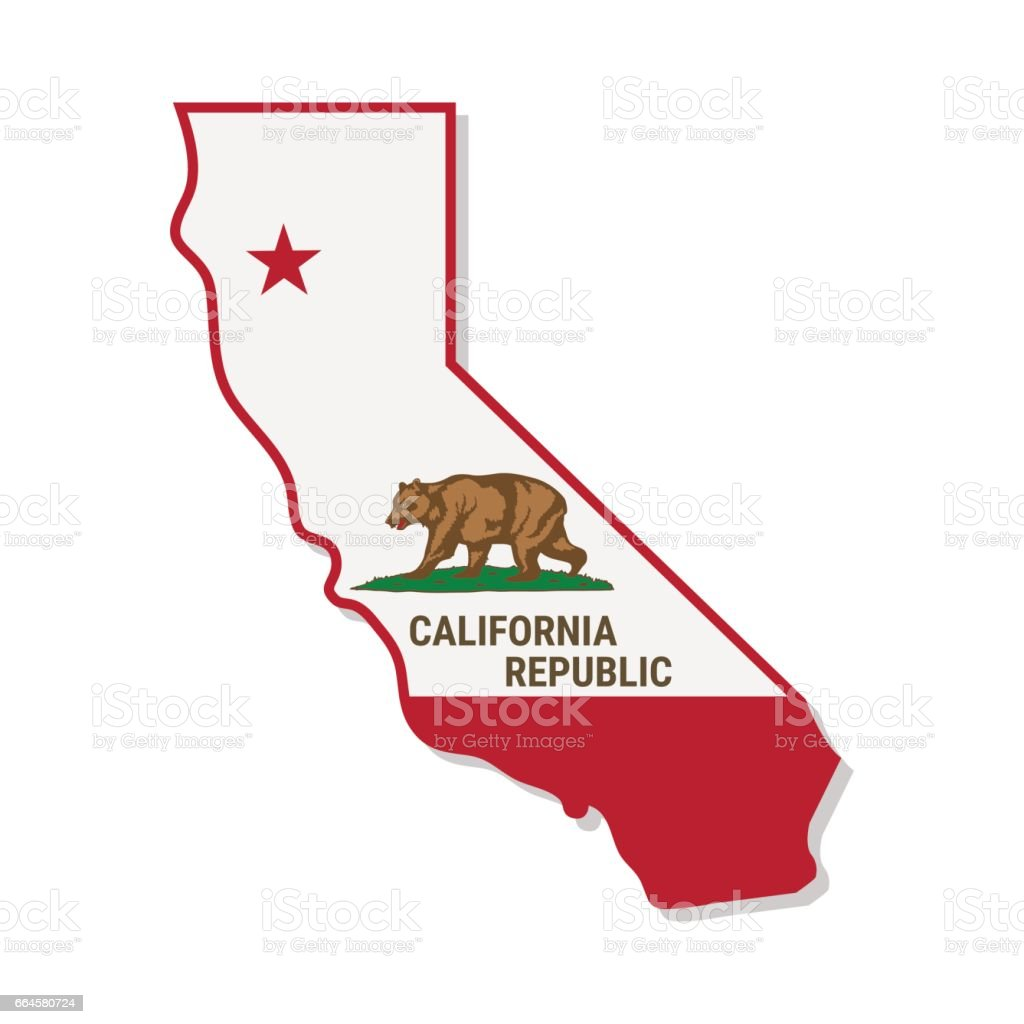 California Independence Campaign. Vector illustration. vector art illustration