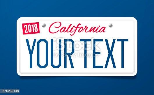 istock California License Plate 876236198