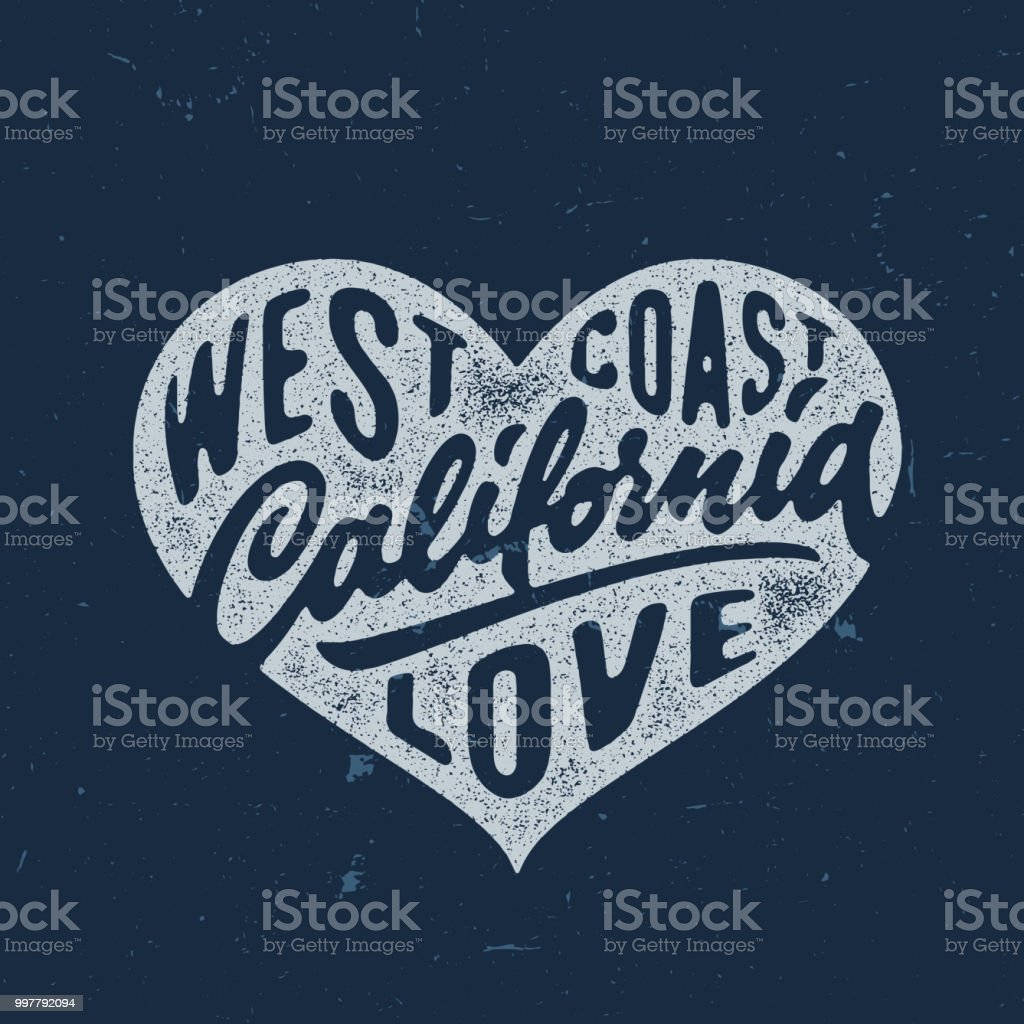 Download California Love Hand Crafted Lettered Vintage T Shirt ...
