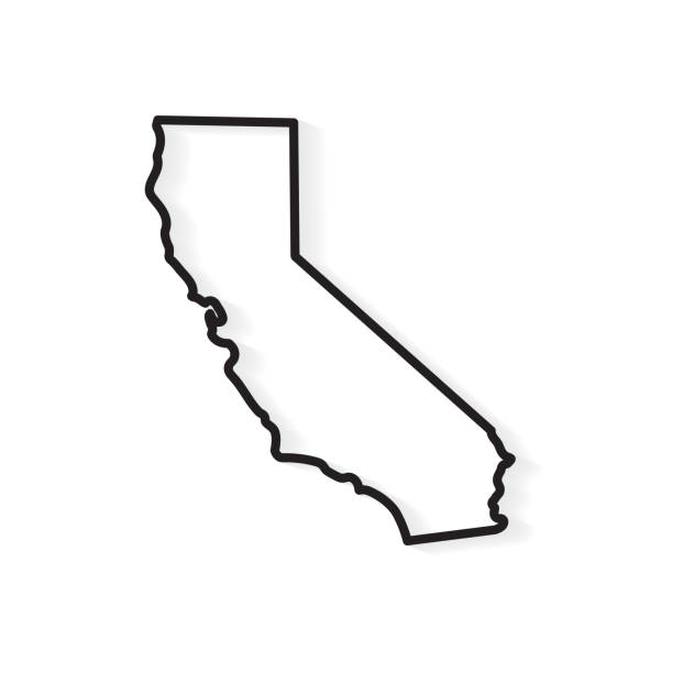 California map California map- vector illustration oakland stock illustrations