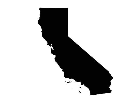 vector illustration of California map