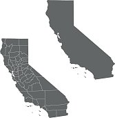 vector map of California