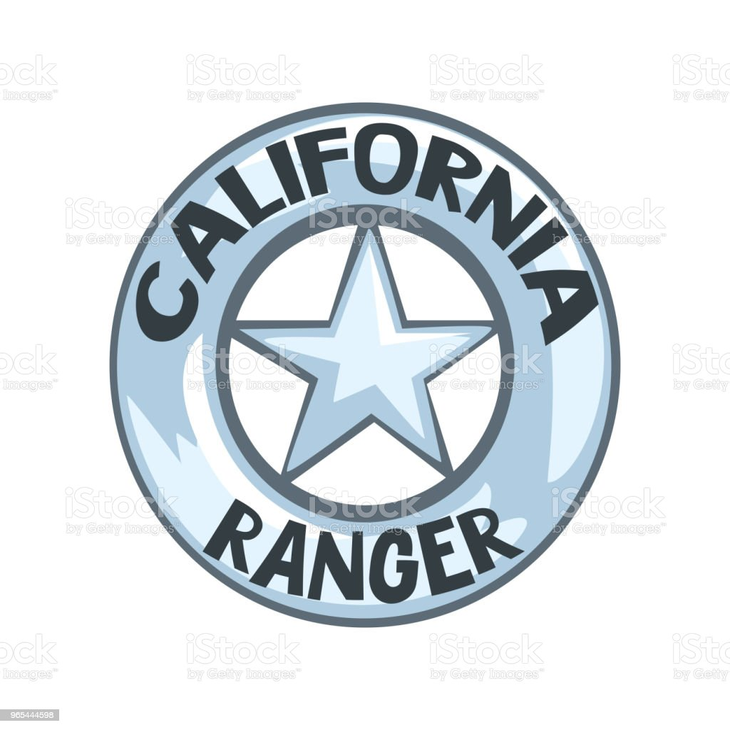 California ranger badge, American justice emblem vector Illustration on a white background royalty-free california ranger badge american justice emblem vector illustration on a white background stock vector art & more images of american culture