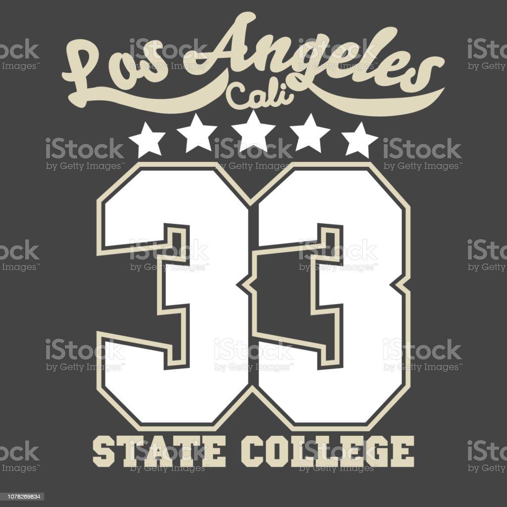 13b6b8d83 California sport wear T-shirt Typography design. Vector royalty-free california  sport wear
