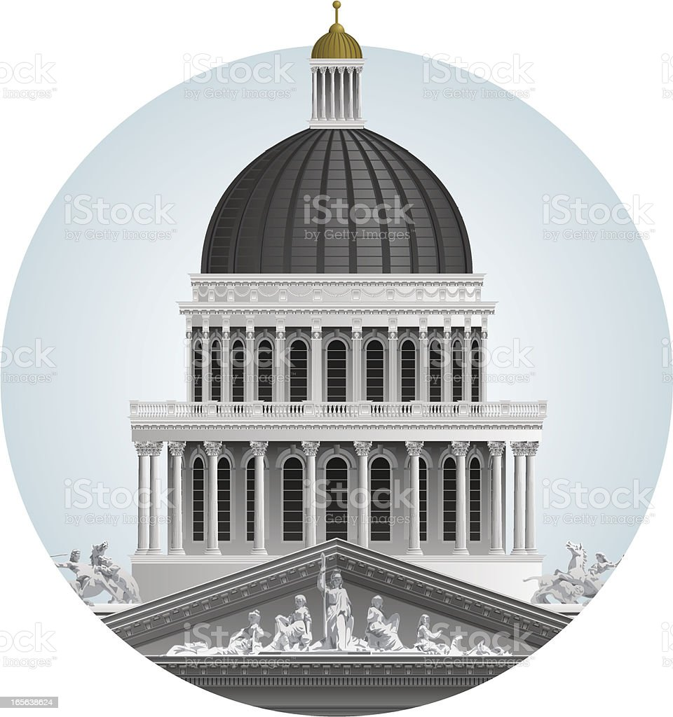 California State Capitol dome vector art illustration