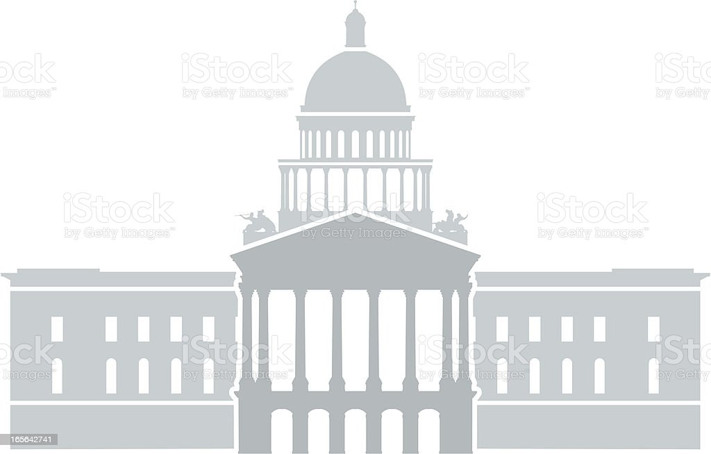 California State Capitol vector art illustration