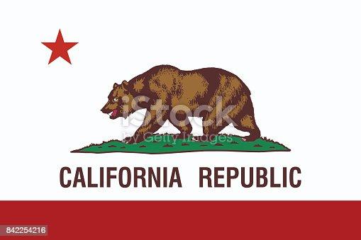 California State Flag. Vector illustration.